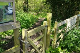 Entrance to Uppacott Wood