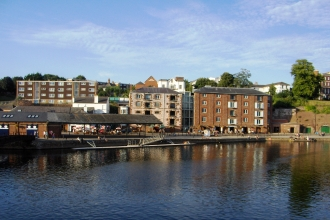 Exeter quay by the river