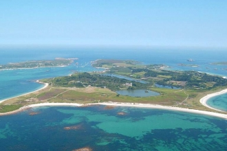 Isles of Scilly - Tresco aerial