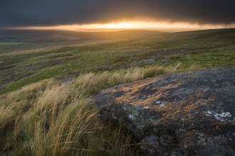Stormy clouds over Dartmoor