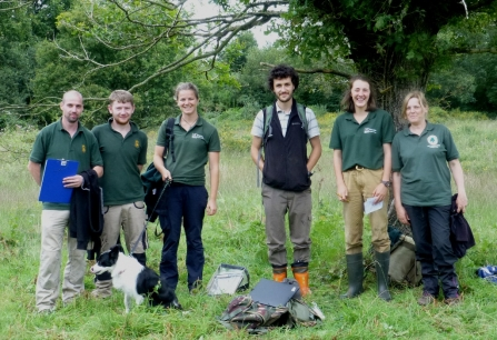 Team survey for narrow-headed ants at Chudleigh Knighton Heath