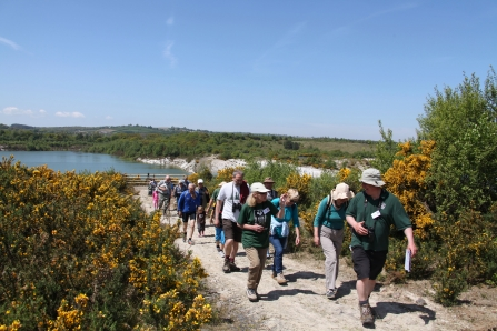Local group exploring Meeth Quarry