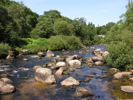 Big boulders in the middle of the River Dart, Dartmeet