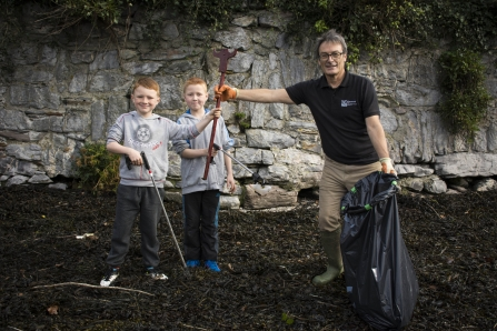 Litter picking in Plymouth