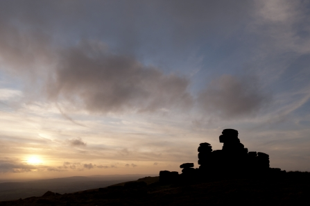 Great Staple Tor silhouette