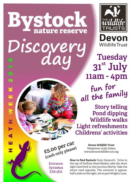 Bystock nature reserve discovery day poster 2018