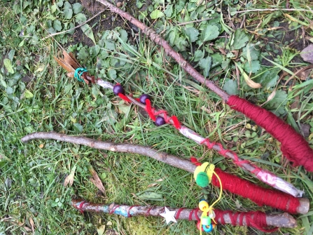 Magical wands made at a Devon Wildlife Trust event