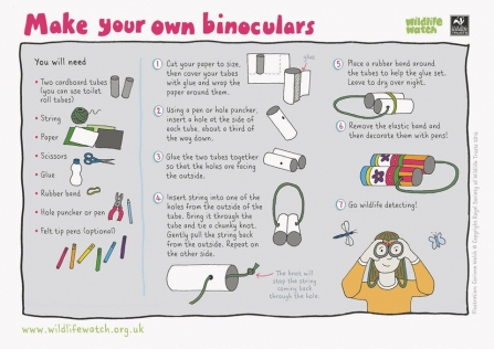 How to make your own paper binoculars