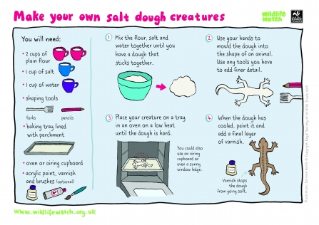 salt dough creaturess